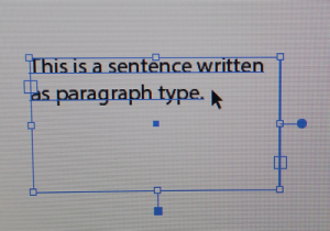 paragraph type - opened box