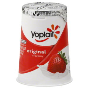 Yoplait strawberry yogurt pack